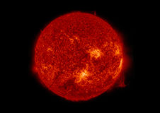 Sun. View from space isolated in black Royalty Free Stock Photography