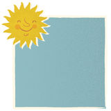 Sun vintage card vector Stock Photography