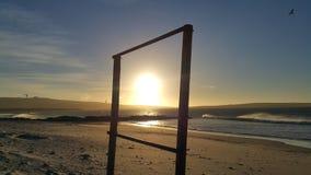 Sun visualizzato nella cornice all'aperto fotografia stock