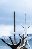 The Sun Voyager dreamboat sculpture in Reykjavik, Iceland Stock Photo