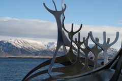 The Sun Voyager Iceland Stock Photos