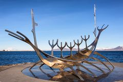 Sun voyager monument stock photo