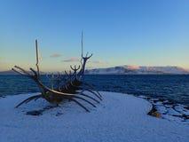 Sun Voyager. In Reykjavik, Iceland Royalty Free Stock Photo