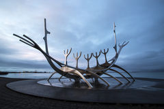The Sun Voyager in Reykjavik, Iceland Stock Images