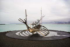 The Sun Voyager in Reykjavik, Iceland Stock Photography