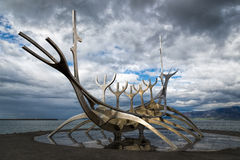 Sun Voyager in Reykjavik. Sun Voyager sculpture in the centre of Reykjavík, Iceland Stock Image