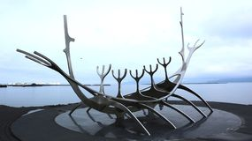 The Sun Voyager, Reykjavik photographie stock