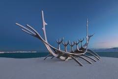 Sun Voyager sculpture in Reykjavik Royalty Free Stock Image