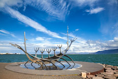Sun Voyager sculpture in Reykjavik Iceland Stock Image