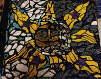 Sun vs moon. My mosaic artpiece royalty free stock photography