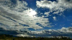 Sun w niebie obraz royalty free