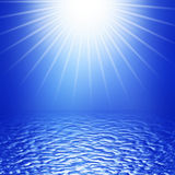 Sun and water Royalty Free Stock Images