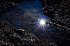 Sun in water Royalty Free Stock Images
