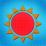Sun watercolor on paper Royalty Free Stock Images