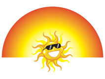 Sun wearing sun glasses Stock Images