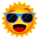 Sun Wearing Sunglasses Stock Photos