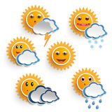 Sun Weather Faces Royalty Free Stock Photography