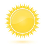Sun. Weather forecast glossy icon Stock Photo