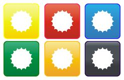 Sun web button Stock Photo