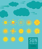 VECTOR Sun Royalty Free Stock Image