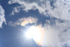 Sun and White clouds Royalty Free Stock Images