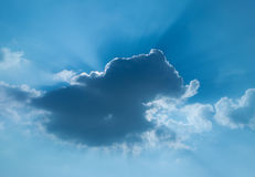 The sun will be out of the clouds Royalty Free Stock Images