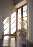 Sun and window Royalty Free Stock Photos