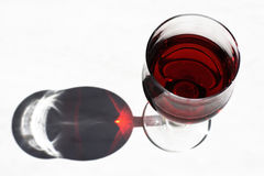 Sun in wine glass Stock Image