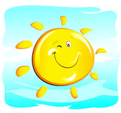 Sun (winking) Royalty Free Stock Photography