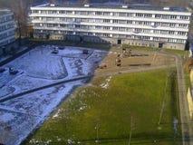 Sun wird den Schnee weggenommen Stockfotos