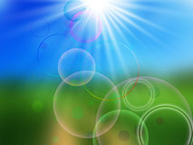 Sun With Circles Royalty Free Stock Photo