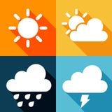 Sun, Wolke und Regen Stockfoto