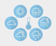 Sun, Wolke und Regen stock abbildung