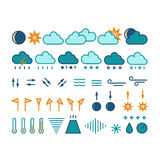 Sun, Wolke und Regen Stockfotos