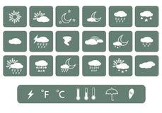 Sun, Wolke und Regen Vektor Lizenzfreies Stockfoto