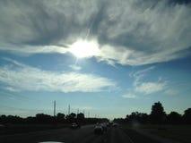 Sun-Wolken Lizenzfreies Stockbild