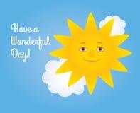 Sun a wonderful day Stock Image