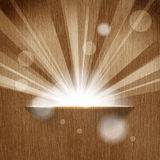 Sun on wooden background Royalty Free Stock Photos