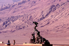 Sun Wukong, die Affe-Königstatue Stockbild