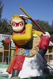 Sun Wukong statue, Chinese fairy tale monkey. Monkey King statue in children playground Stock Photo