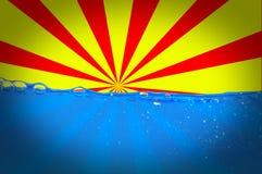 Sun y agua fotografía de archivo