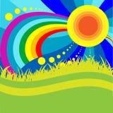 Sun y arco iris libre illustration