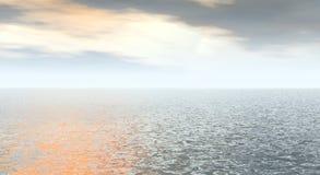 Sun y cielo ilustración del vector