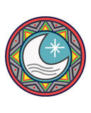 Sun y diseño del indigenus de la luna Fotografía de archivo