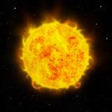 Sun y espacio ilustración del vector