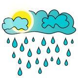 Sun y lluvia Ilustración del Vector