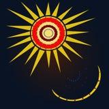 Sun y luna en estilo árabe Imagen de archivo libre de regalías