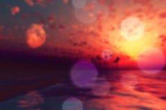 Sun y luna sobre la isla Foto de archivo