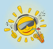 Sun y música Foto de archivo libre de regalías