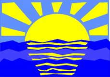 Sun y mar Imágenes de archivo libres de regalías